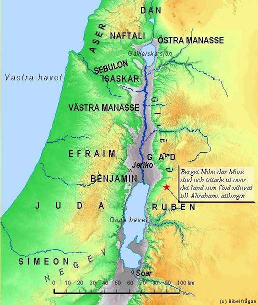 Så fördelades Kanaans land mellan de israelitiska stammarna
